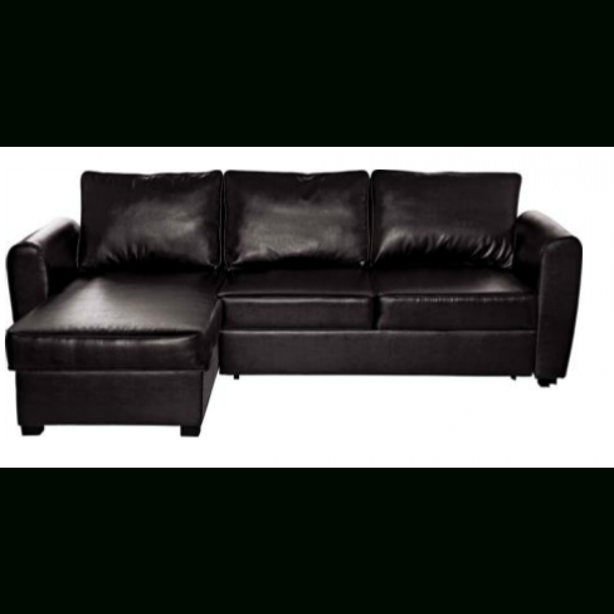 Siena Leather Effect Corner Sofa Bed With Storage  Chocolate With Regard To Storage Sofas (Image 8 of 10)
