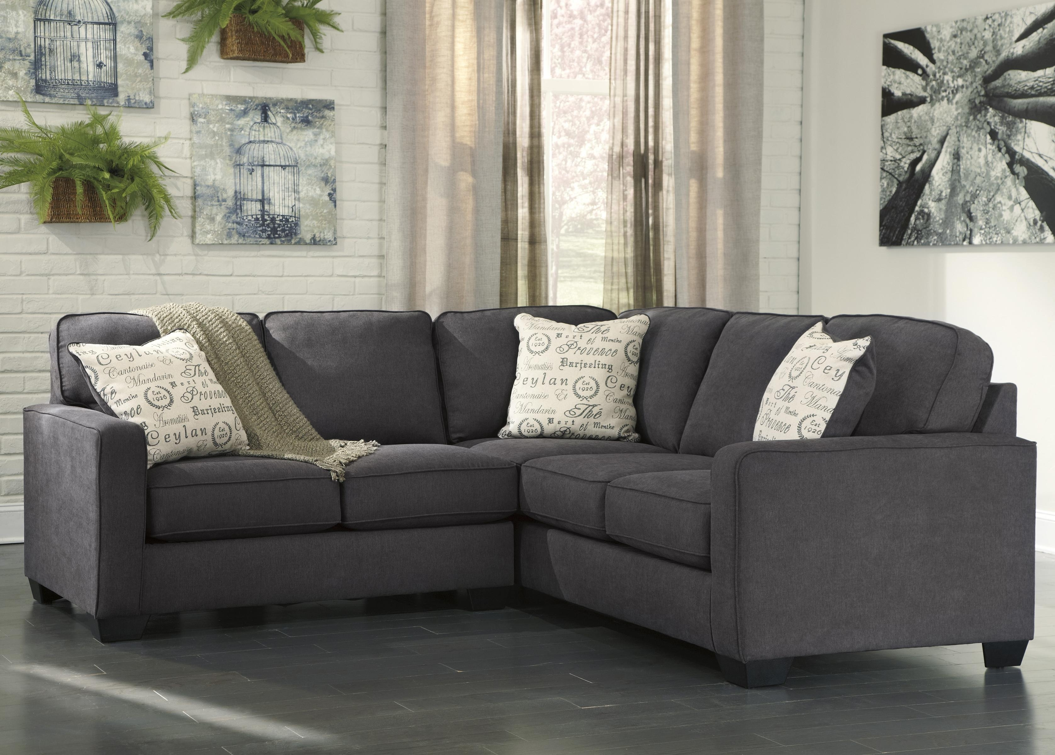 Signature Designashley Alenya – Charcoal 2 Piece Sectional With Within Green Bay Wi Sectional Sofas (Image 9 of 10)