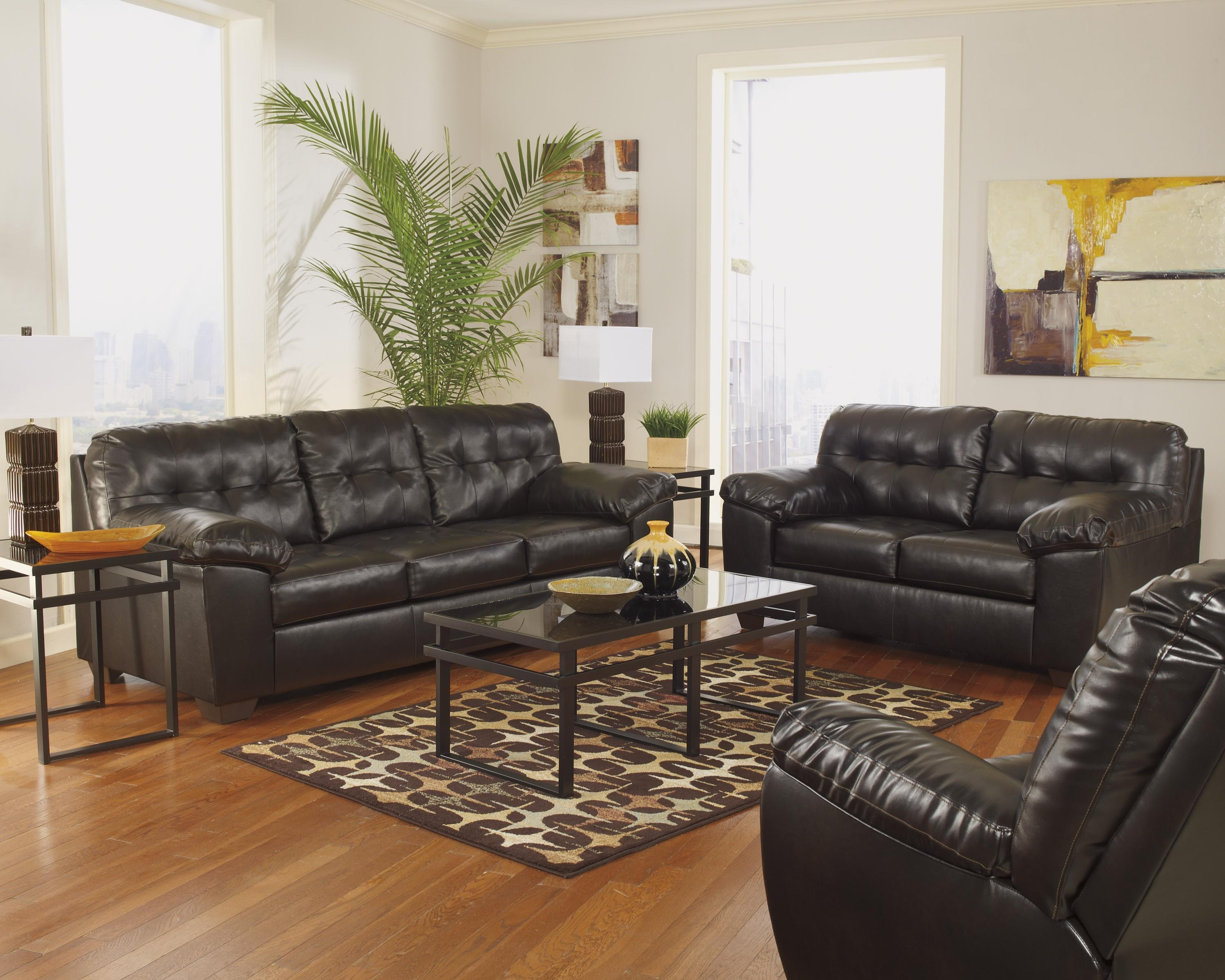 Signature Designashley Alliston Durablend® – Chocolate Queen With Regard To Ashley Tufted Sofas (Image 8 of 10)