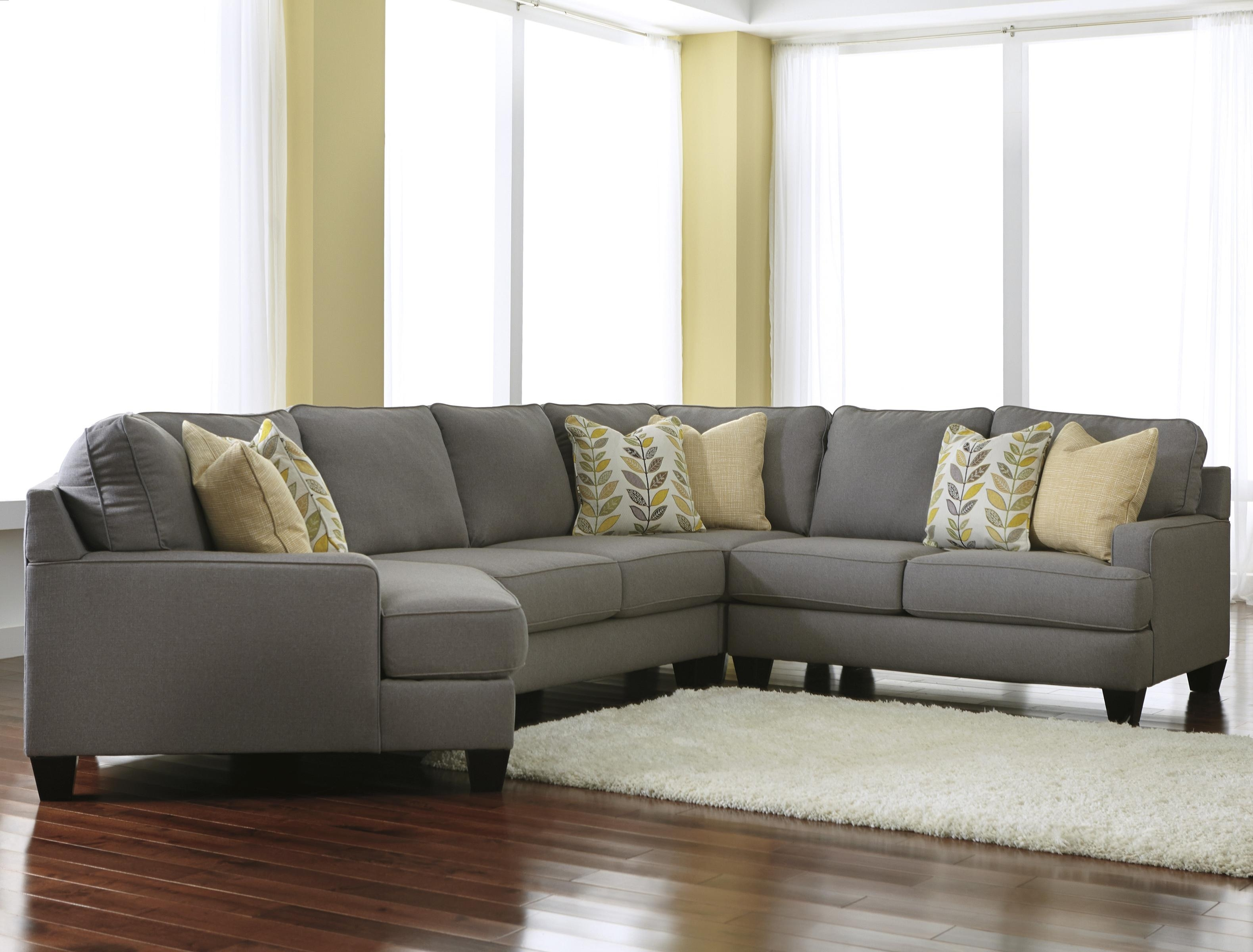 Signature Designashley Chamberly – Alloy Modern 4 Piece For Sectional Sofas With Cuddler (View 6 of 10)