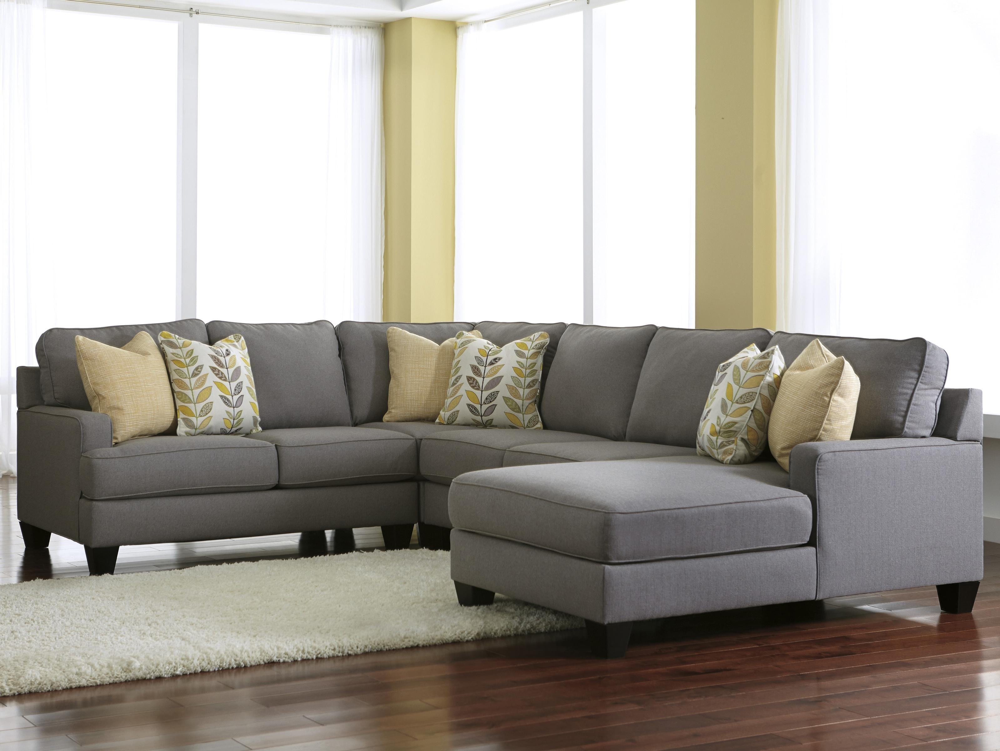 Signature Designashley Chamberly – Alloy Modern 4 Piece Pertaining To Jacksonville Nc Sectional Sofas (View 7 of 10)