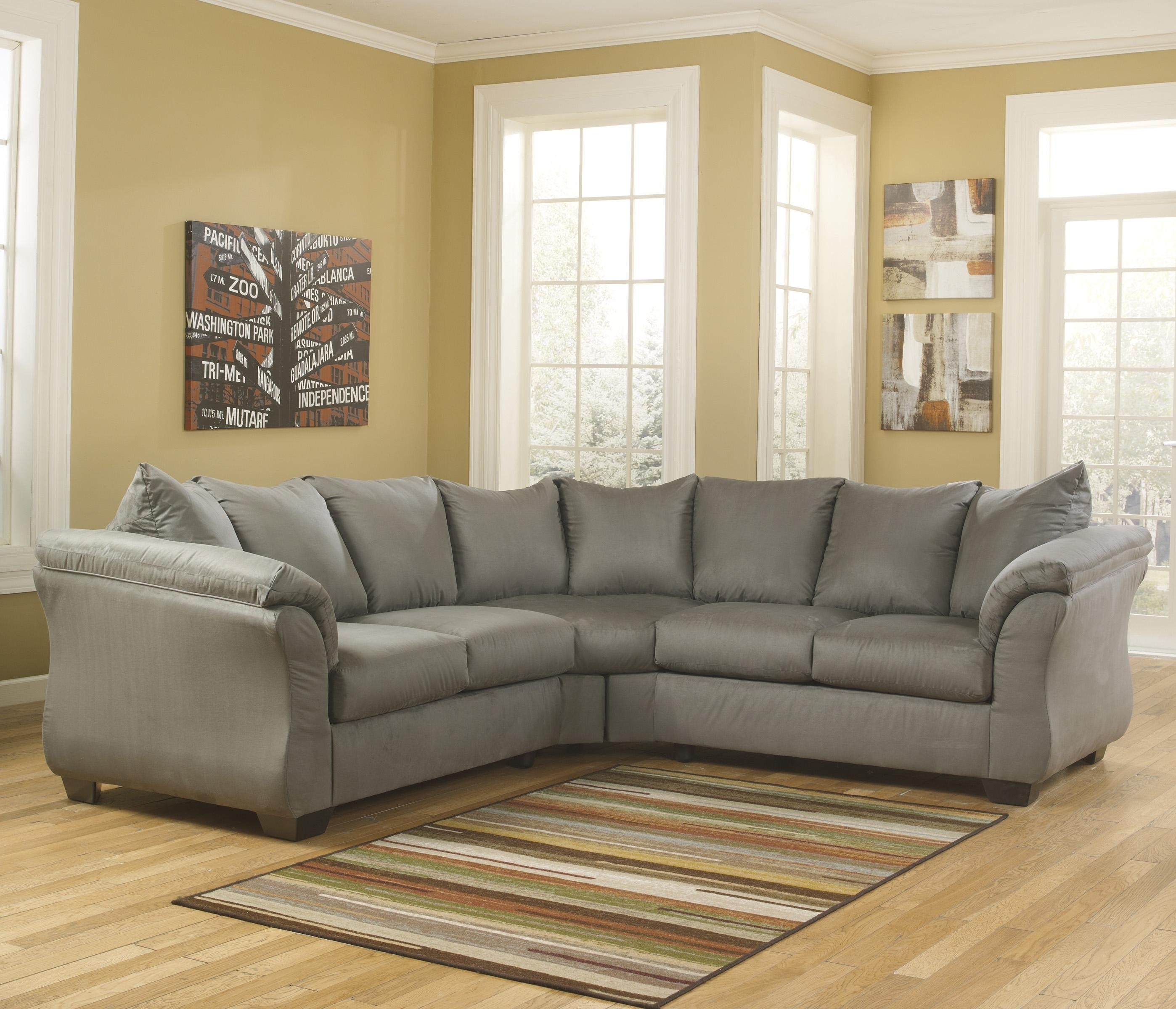 Signature Designashley Darcy – Cobblestone Contemporary In 102X102 Sectional Sofas (Image 10 of 10)