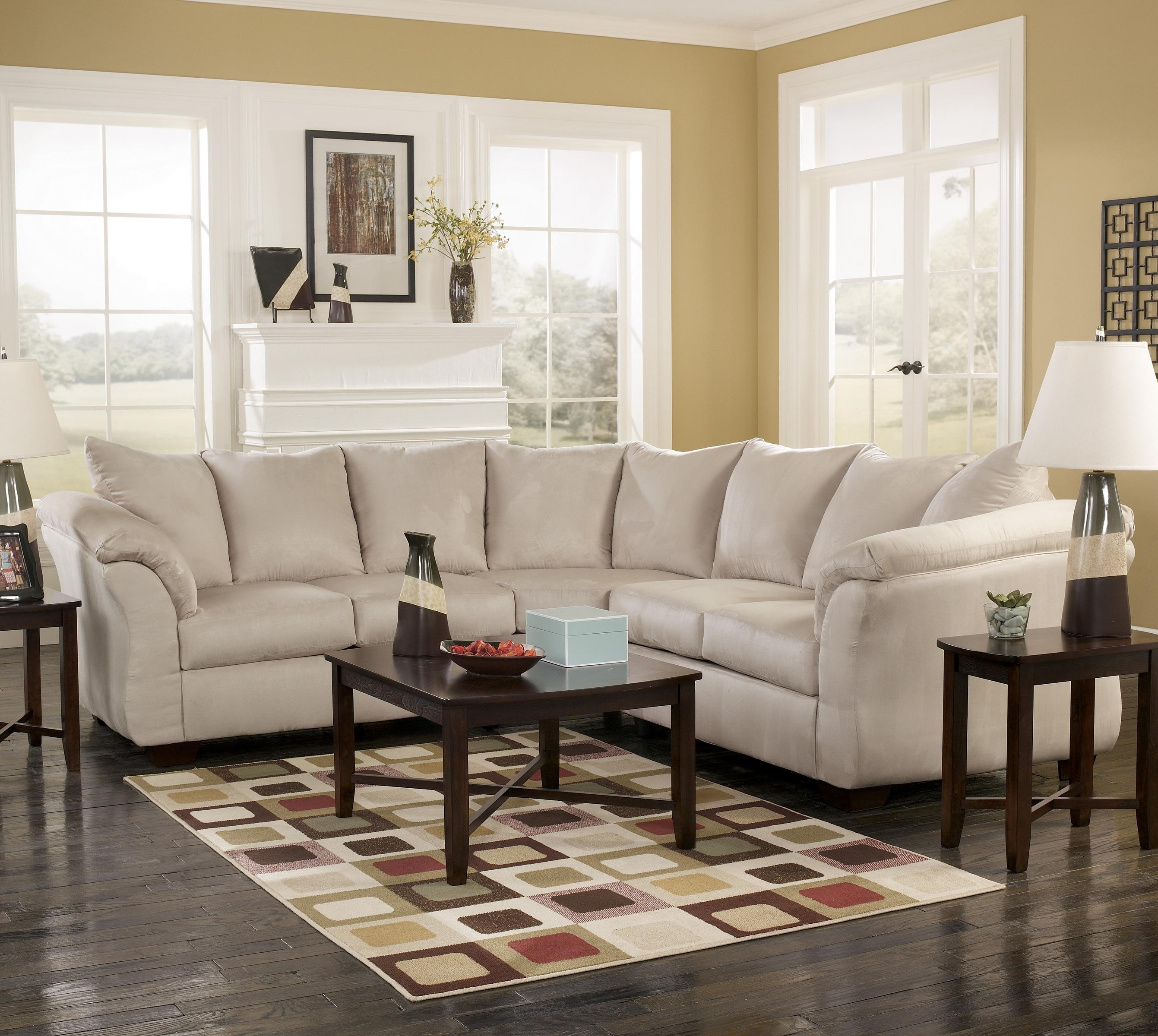 Signature Designashley Darcy – Stone Contemporary Sectional Sofa For Janesville Wi Sectional Sofas (Image 10 of 10)