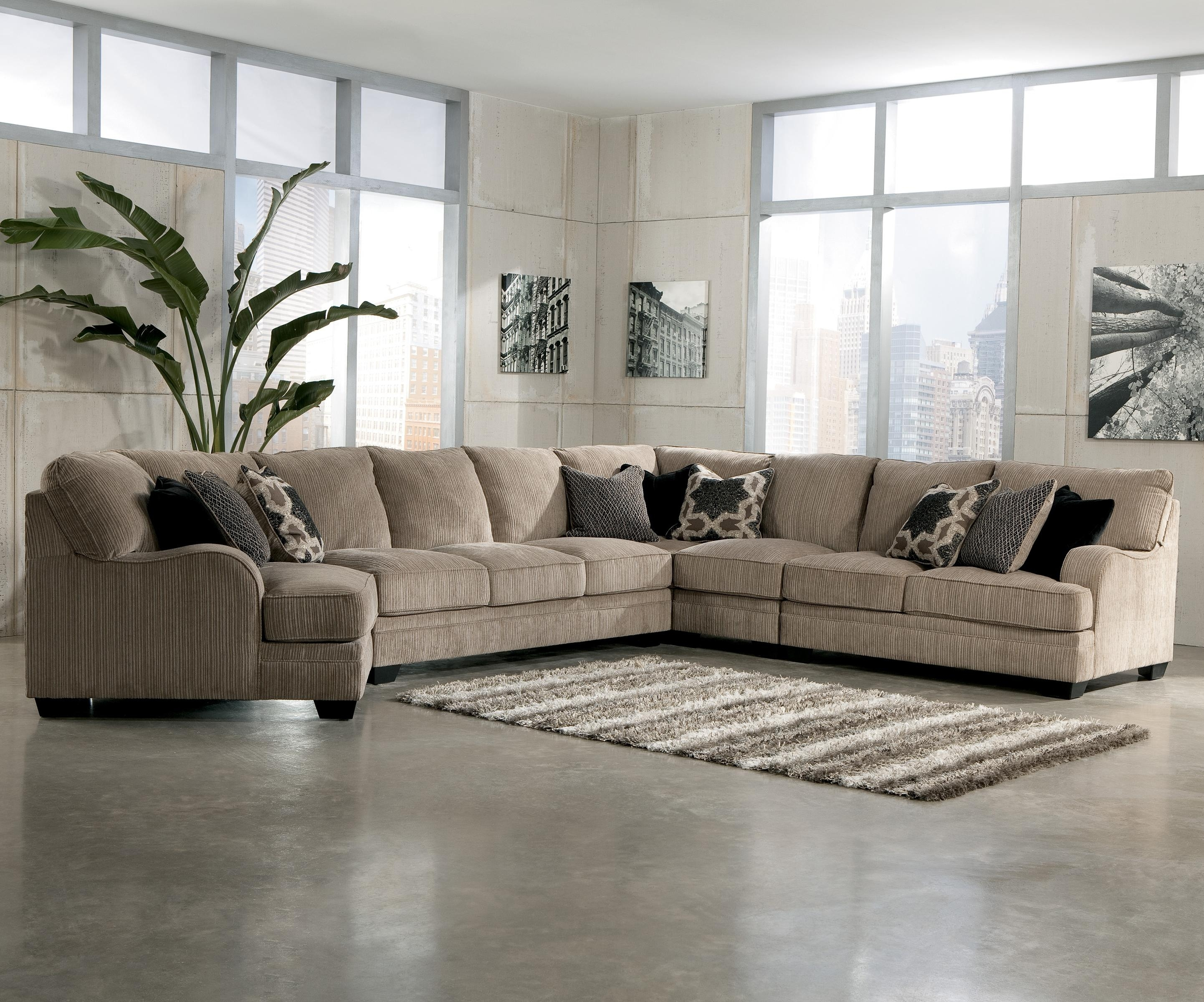 Signature Designashley Katisha – Platinum 5 Piece Sectional Sofa With Pittsburgh Sectional Sofas (View 9 of 10)