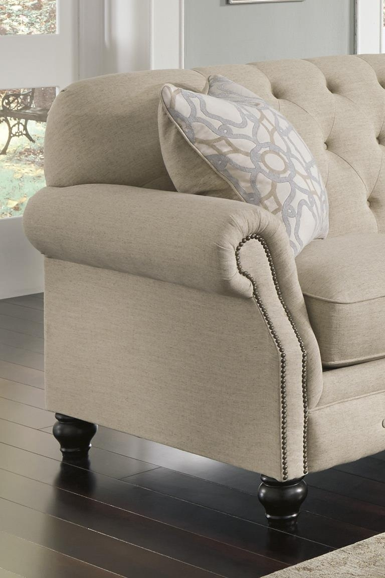 Signature Designashley Kieran Traditional Sofa With Tufted Back Within Ashley Tufted Sofas (Image 9 of 10)