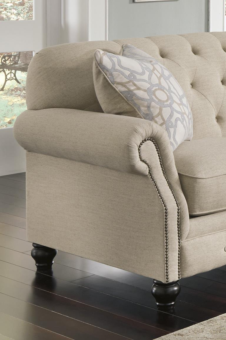 Signature Designashley Kieran Traditional Sofa With Tufted Back Within Ashley Tufted Sofas (View 6 of 10)