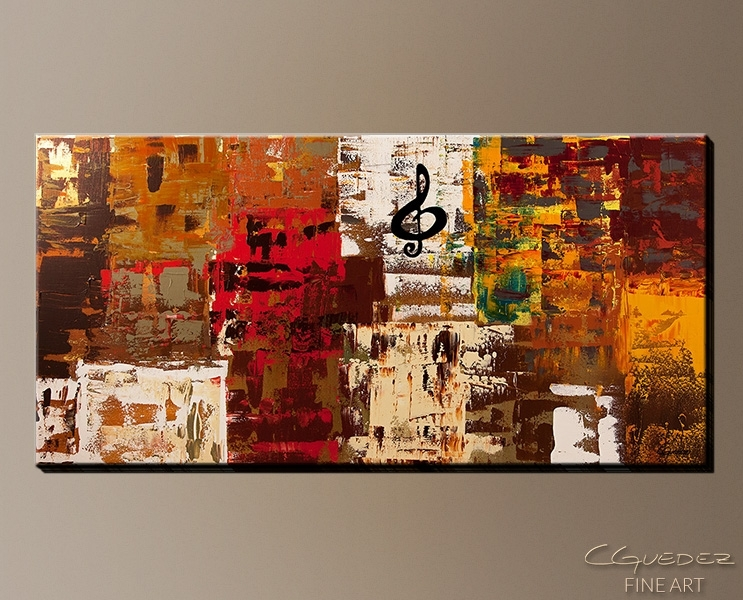Signed Fine Art Canvas Prints And Posters Of Contemporary Abstract Pertaining To Music Canvas Wall Art (Image 9 of 15)