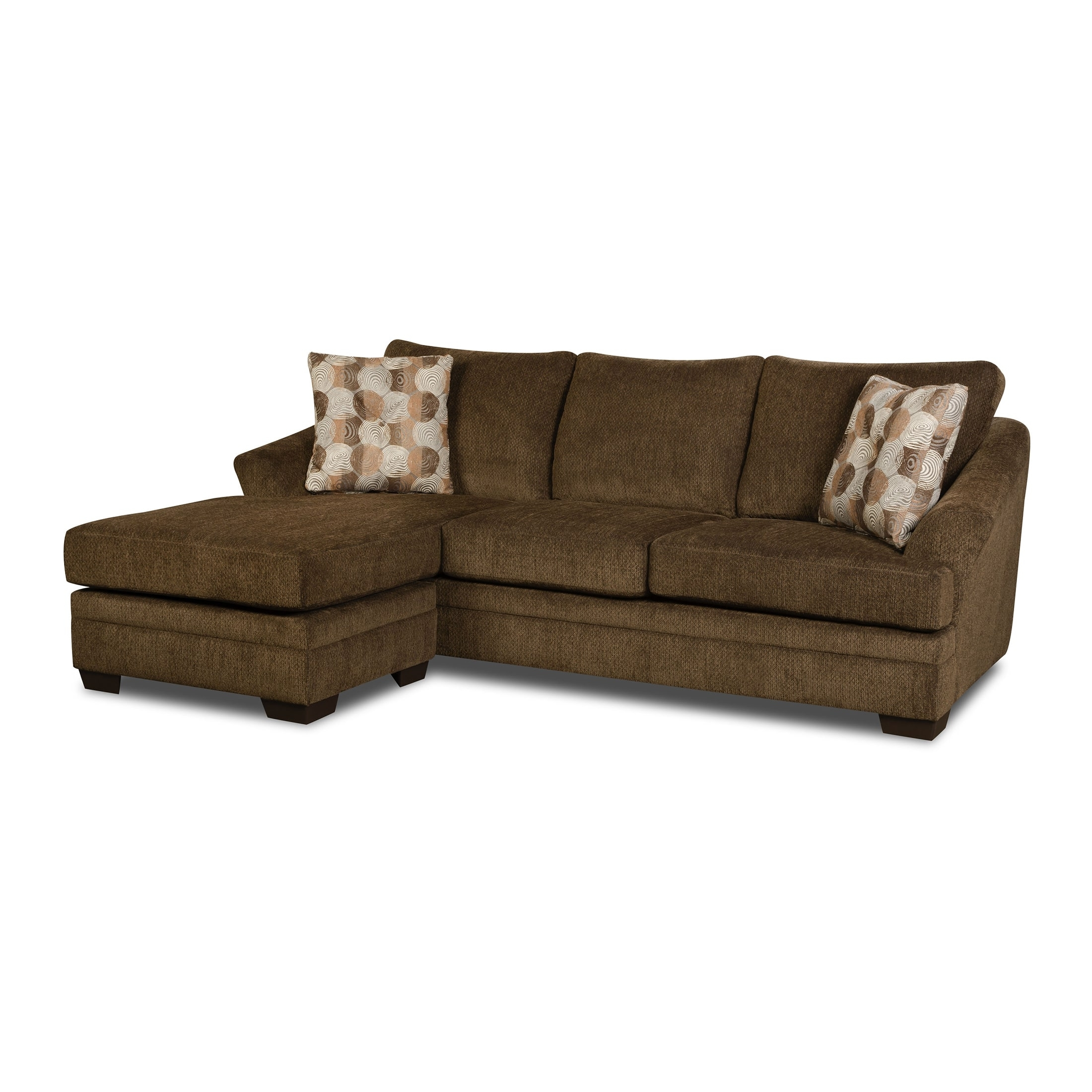 Simmons Upholstery Albany Sofa Chaise – Walmart Inside Simmons Chaise Sofas (View 7 of 10)