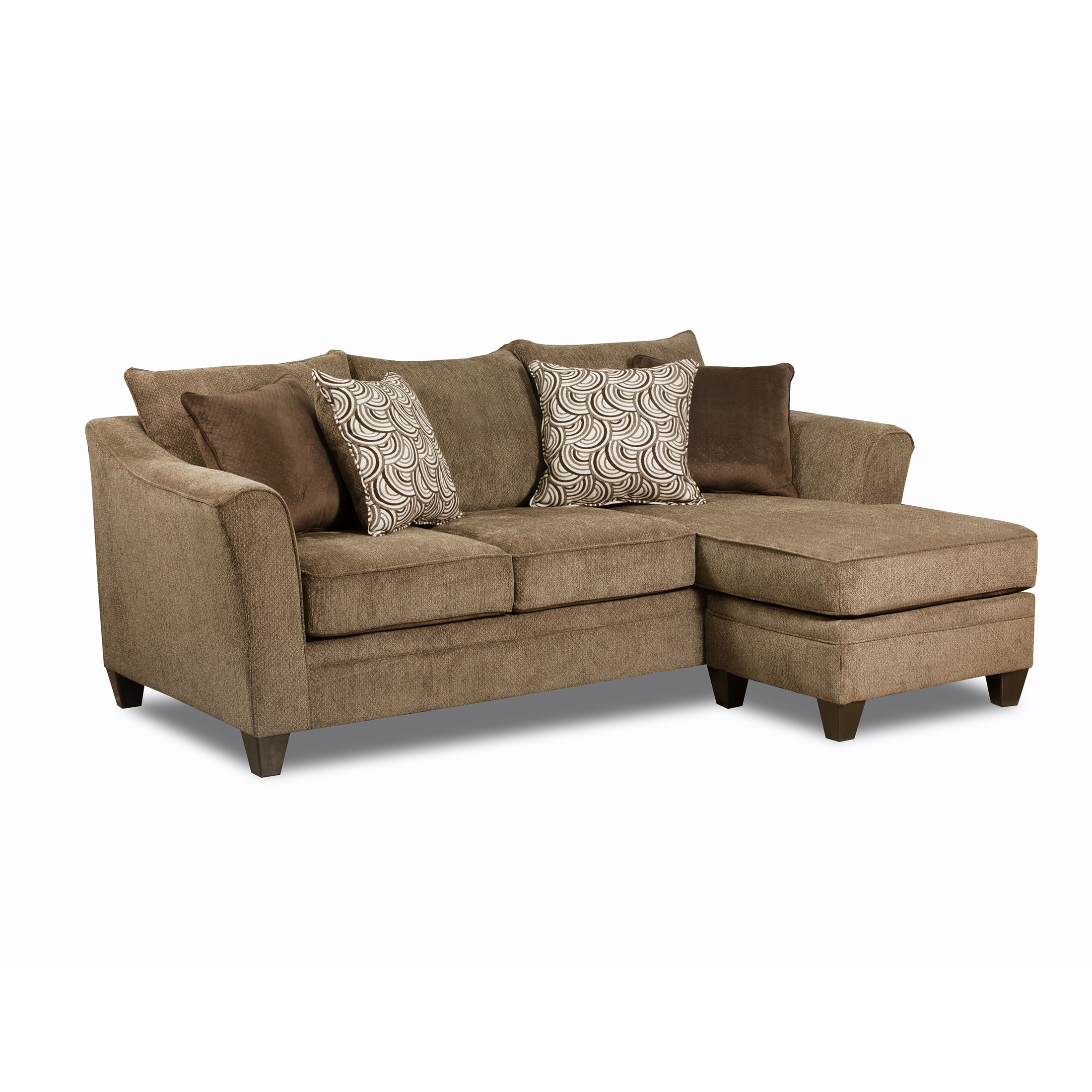 Simmons Upholstery Albany Truffle Sofa Chaise – Free Shipping Today Regarding Simmons Chaise Sofas (View 6 of 10)