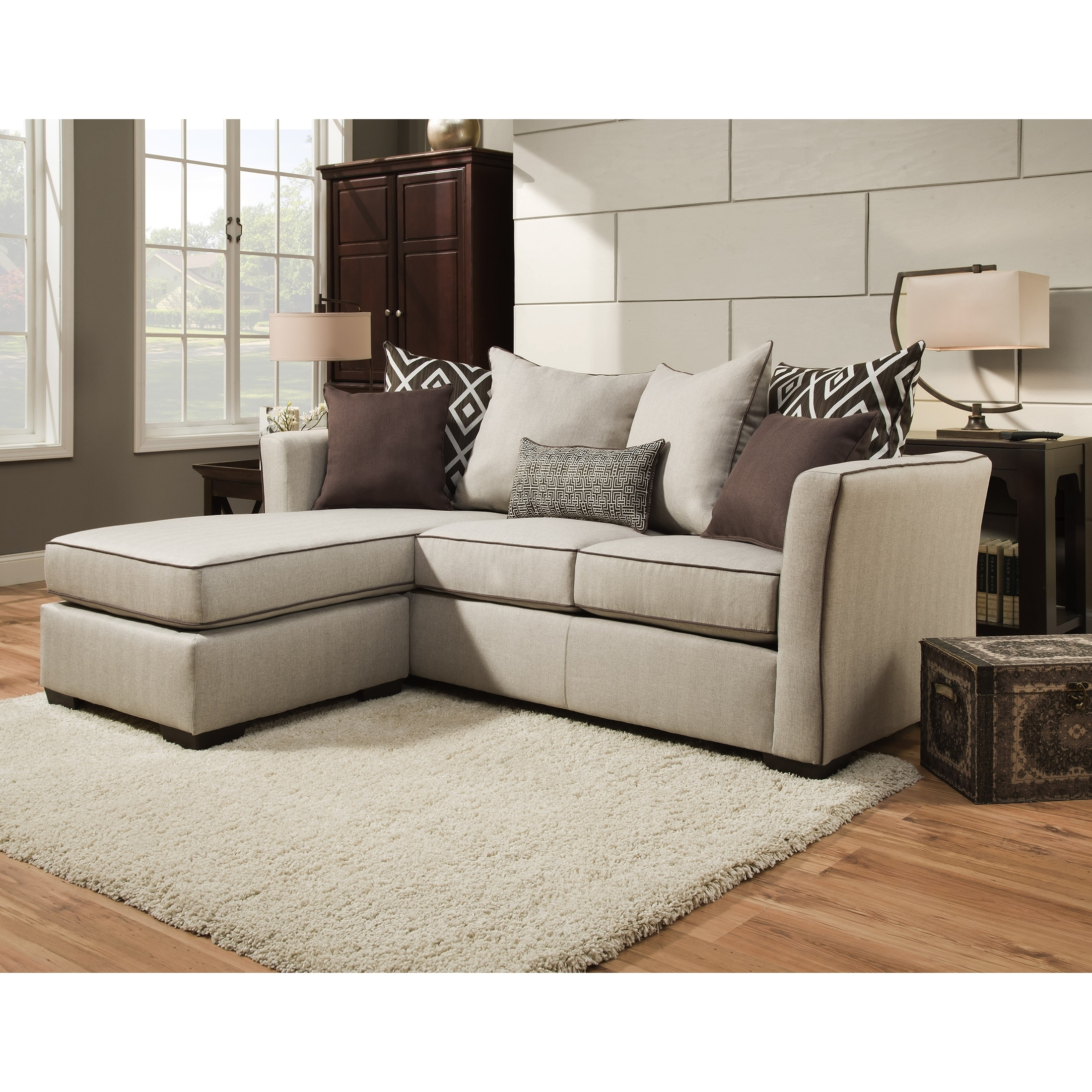 Simmons Upholstery Stewart Sofa Chaise – Free Shipping Today Regarding Simmons Chaise Sofas (View 9 of 10)