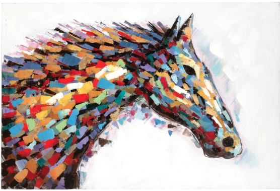 Simple 10+ Western Wall Art Decorating Design Of Header Western Pertaining To Abstract Horse Wall Art (View 12 of 15)