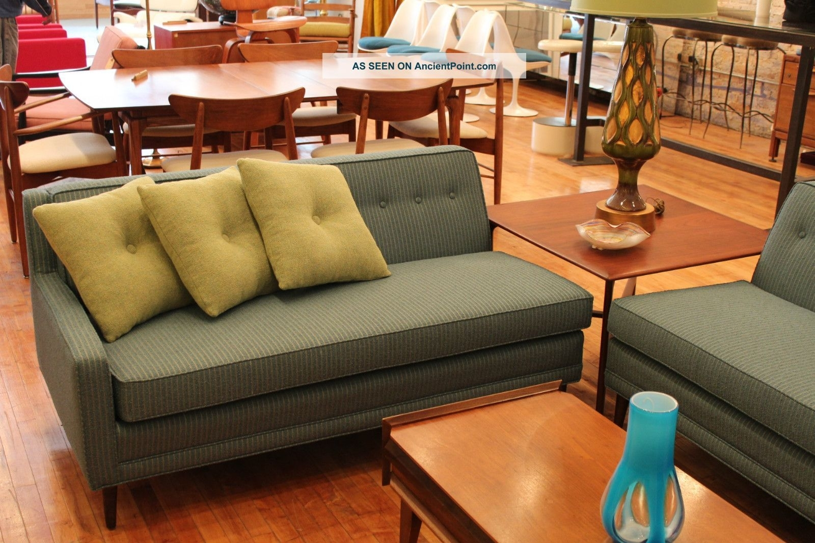 Simple Retro Sectional Sofa 55 In Conversation Sofa Sectional With Throughout Vintage Sectional Sofas (Image 5 of 10)