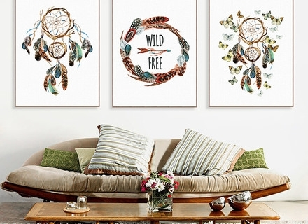 """Simply Shabby Chic Kids Wall Art Fabric 9"""" Letters Dream Floral For Dreamcatcher Fabric Wall Art (Image 14 of 15)"""
