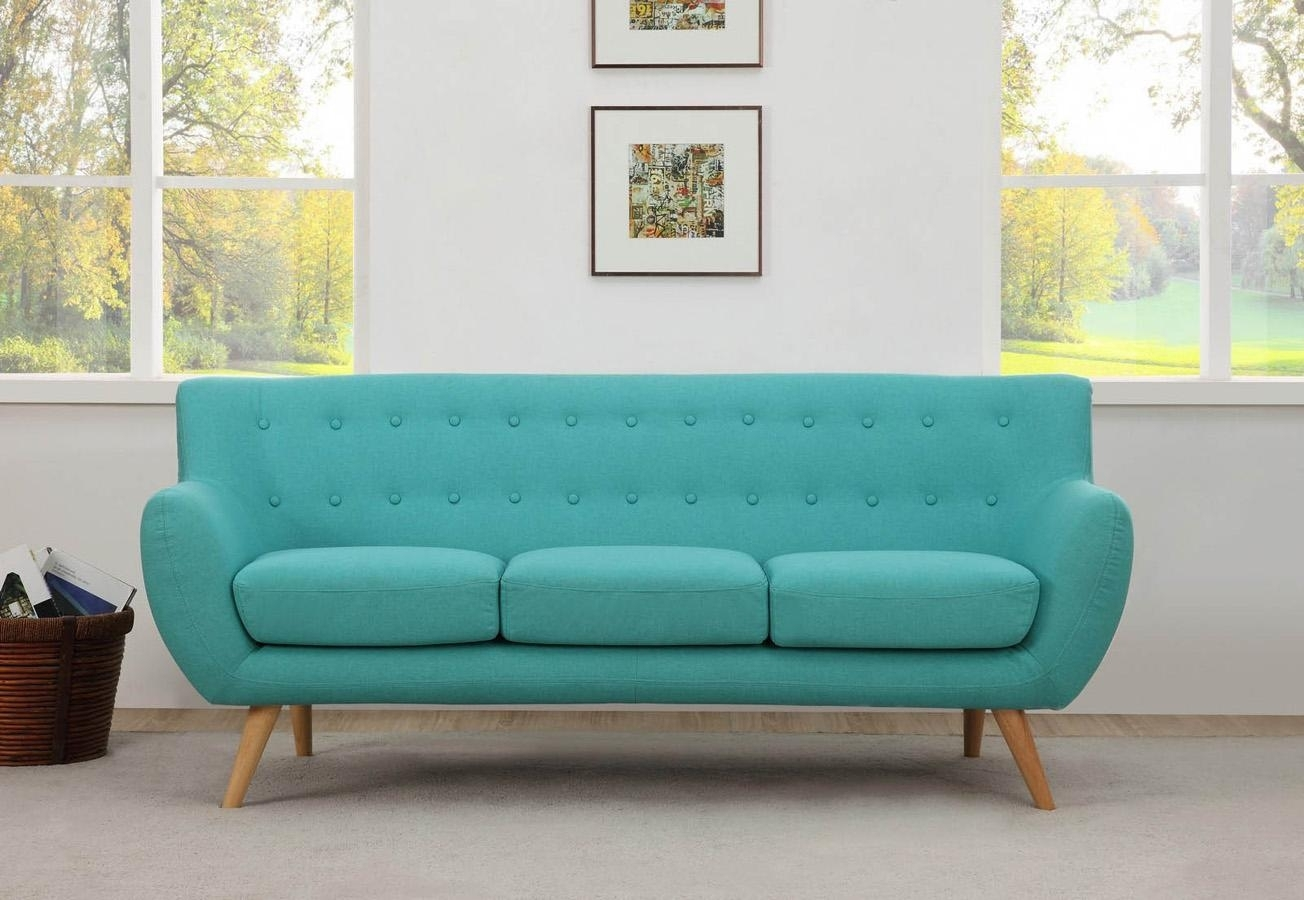 Sixties Retro 3 Seater Sofa – Danish Design – Aqua – 1960S Mid In Aqua Sofas (Image 8 of 10)