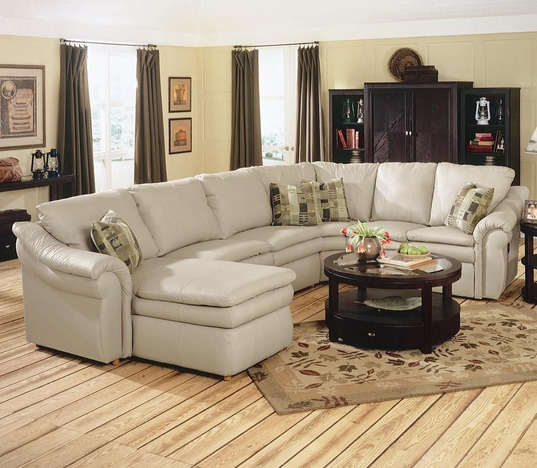 Sleeper, Leather, Recliner Devon 420 4 Piece Sectional Sofa With Intended For Johnny Janosik Sectional Sofas (Image 9 of 10)