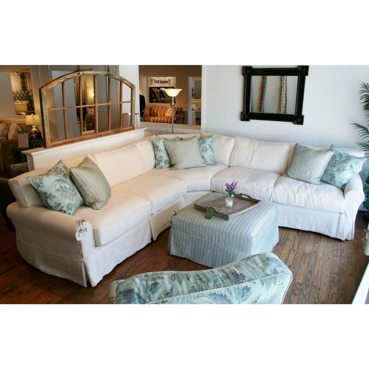 Slipcovered Sectional Sofa Boothbay (Daniel) 108X108 | Coastal With Regard To Tampa Sectional Sofas (Image 8 of 10)