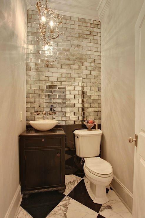 Small Baths With Big Impact | Tile Accent Wall, Subway Tiles And Regarding Wall Accents Behind Toilet (Image 12 of 15)