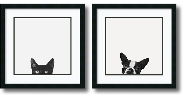 Small Framed Print Sets Houzz Intended For Black And White Framed Within Black And White Framed Art Prints (View 4 of 15)