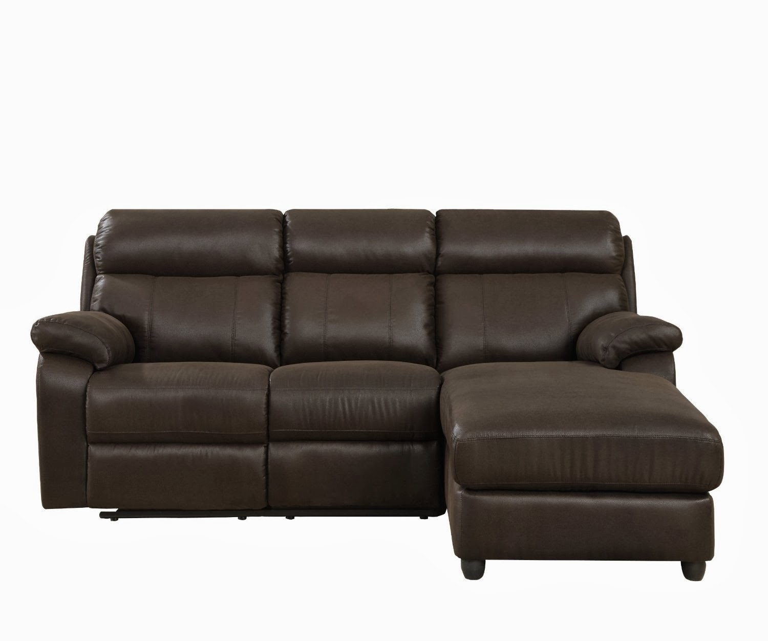 Small High Back Leather Sectional Sofa With Chaise For 3 – Decofurnish For Sectional Sofas With High Backs (Image 8 of 10)