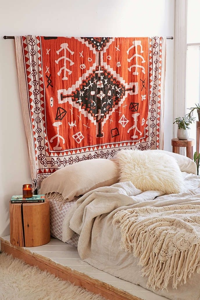 Small Home | Small Home Interior Design | Apartment Design With Fabric Wall Art Urban Outfitters (Image 11 of 15)
