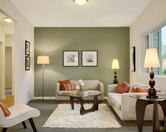Small Living Room Wall Painting Green Accent Walls Accents New Pertaining To Green Room Wall Accents (Image 13 of 15)