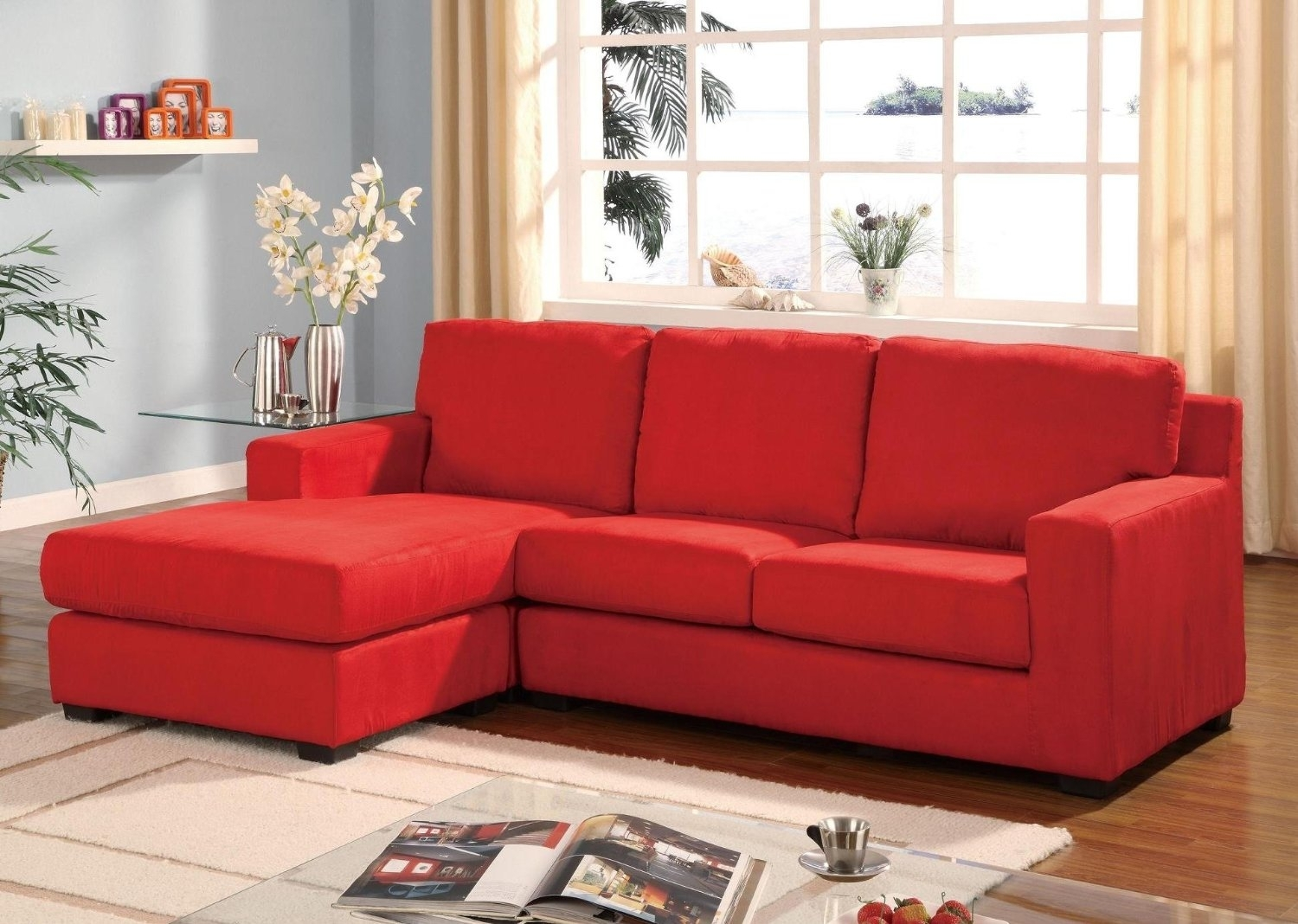 Small Red Sectional Sofa – Home And Textiles With Regard To Small Red Leather Sectional Sofas (Image 7 of 10)