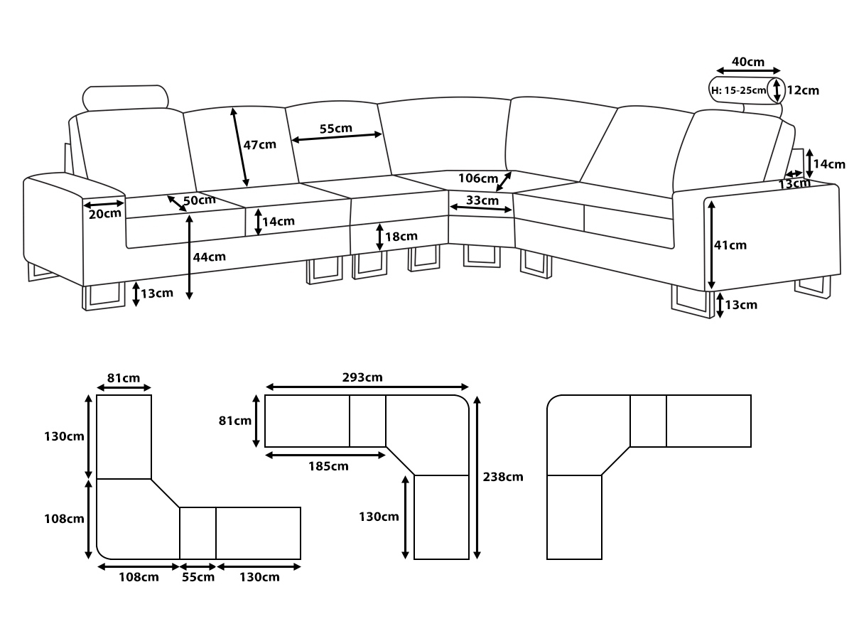 Small Sectional Sofa Sizes • Sectional Sofa For Measurements Sectional Sofas (Image 10 of 10)
