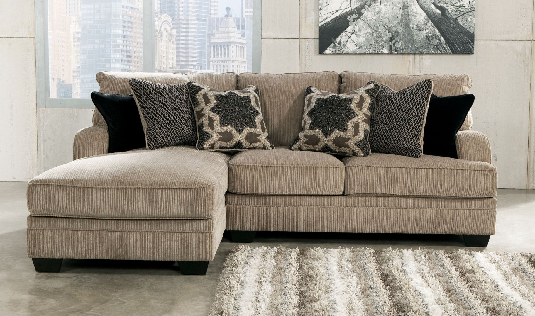 Small Sectional Sofa With Chaise And Ottoman In Small Sectional Sofas With Chaise And Ottoman (View 2 of 10)