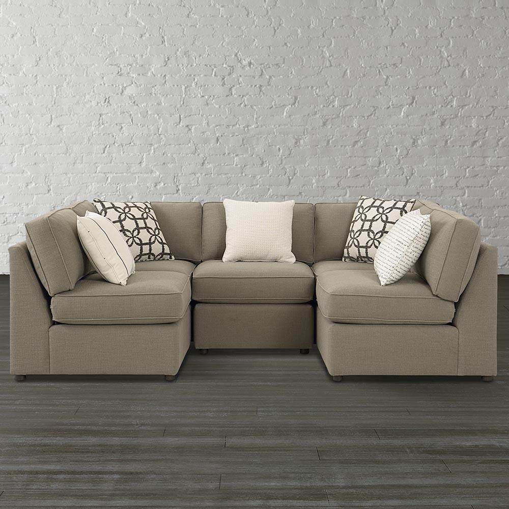 Small U Shaped Sectional Sofa — Fabrizio Design : Fashionable U Intended For Small U Shaped Sectional Sofas (View 2 of 10)