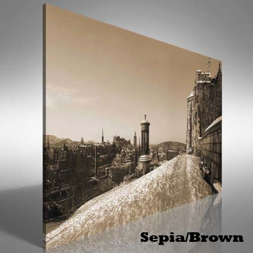 Snow Covered Edinburgh Canvas Print Large Picture Wall Art | Ebay Intended For Edinburgh Canvas Prints Wall Art (View 2 of 15)