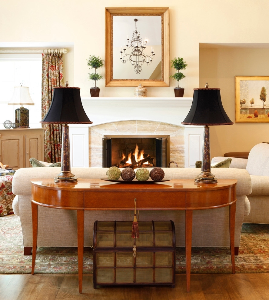 Sofa Console Table In Beautiful Decor – Thedigitalhandshake Furniture With Regard To Sofas With Back Consoles (View 9 of 10)