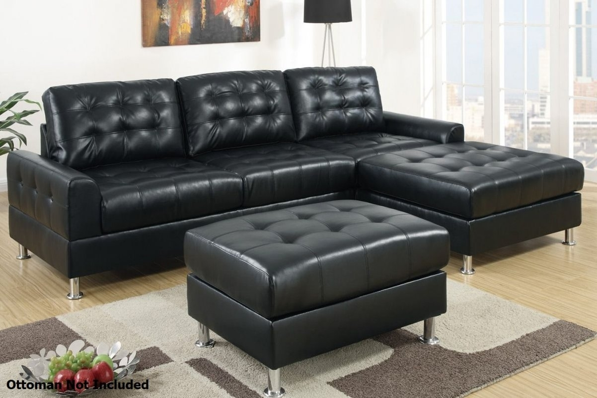 Sofa Design: Comfrotable Black Leather Sectional Sof Throughout Inside Black Leather Sectionals With Ottoman (Image 9 of 10)