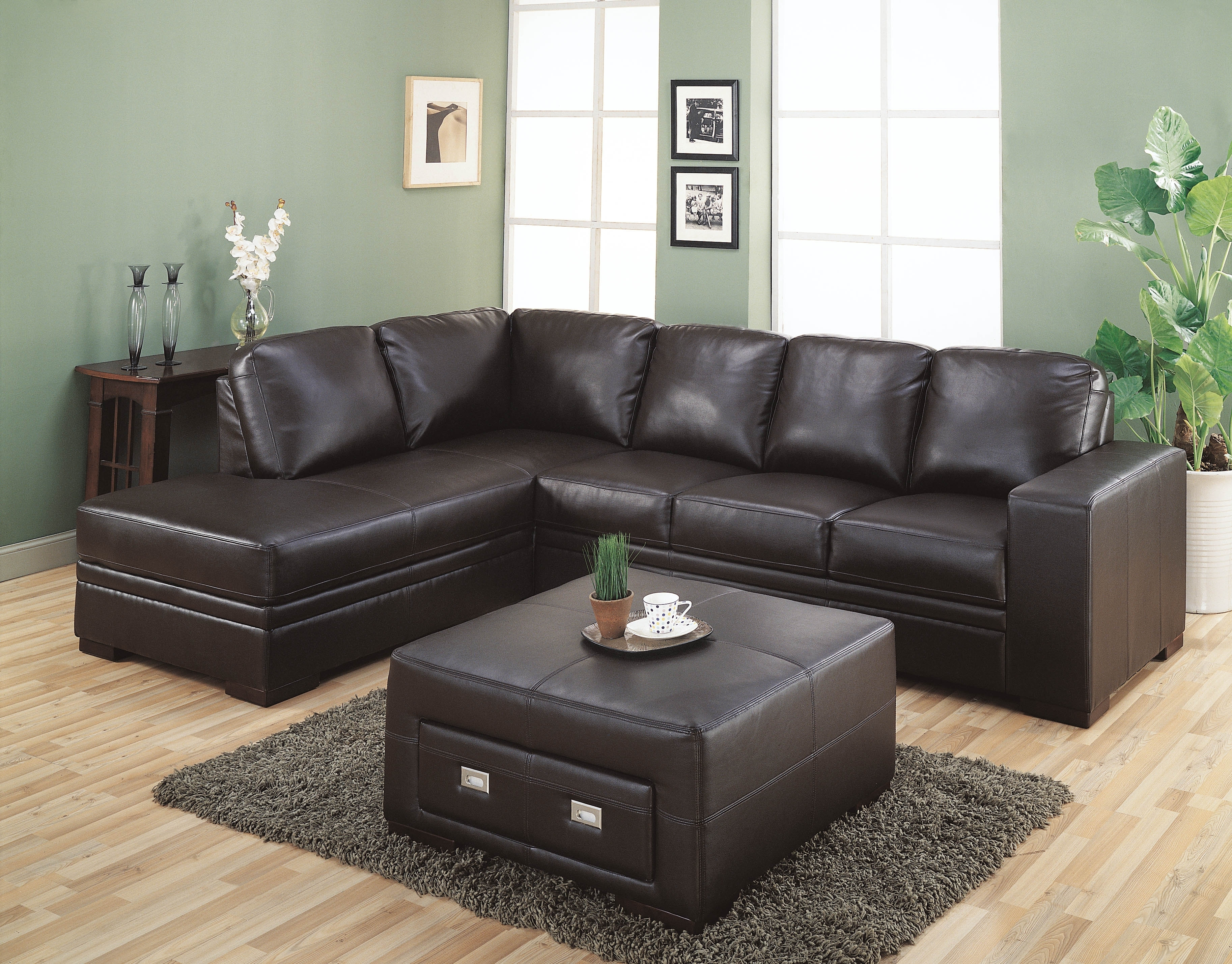 Sofa Leather Sectional Sofas Collection Of Brown Black Couch For Within Memphis Sectional Sofas (Image 10 of 10)