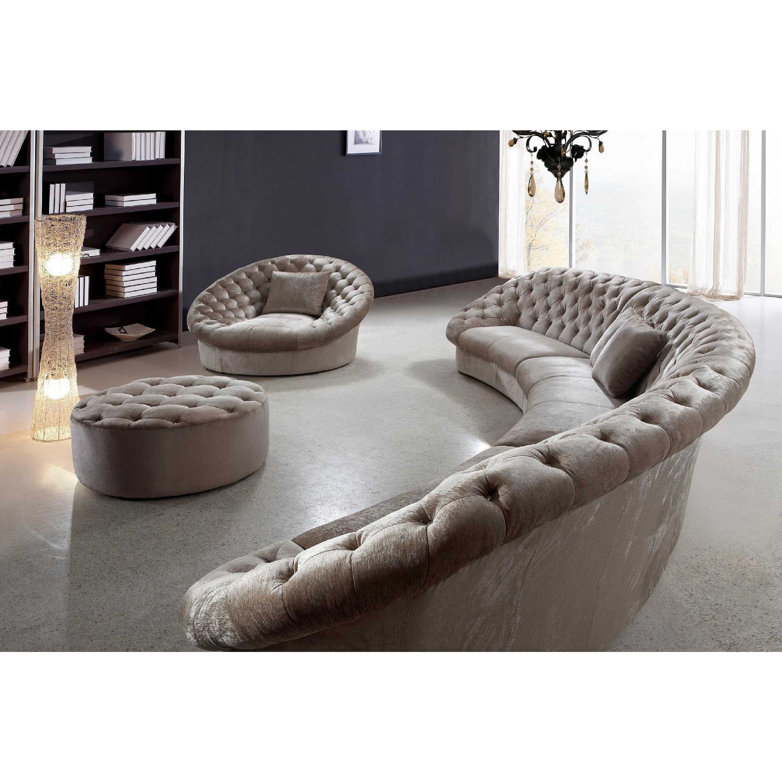 Sofa : Luxury Round Sectional Sofa Bed Curved Semi Circular Sofas Regarding Semicircular Sofas (View 4 of 10)