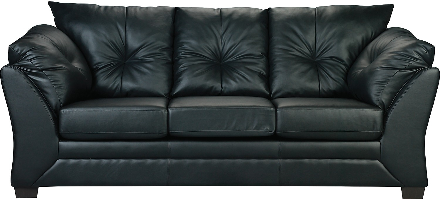Sofa Max En Similicuir – Noir | Faux Leather Sofa, Living Room Sofa Intended For The Brick Leather Sofas (View 9 of 10)