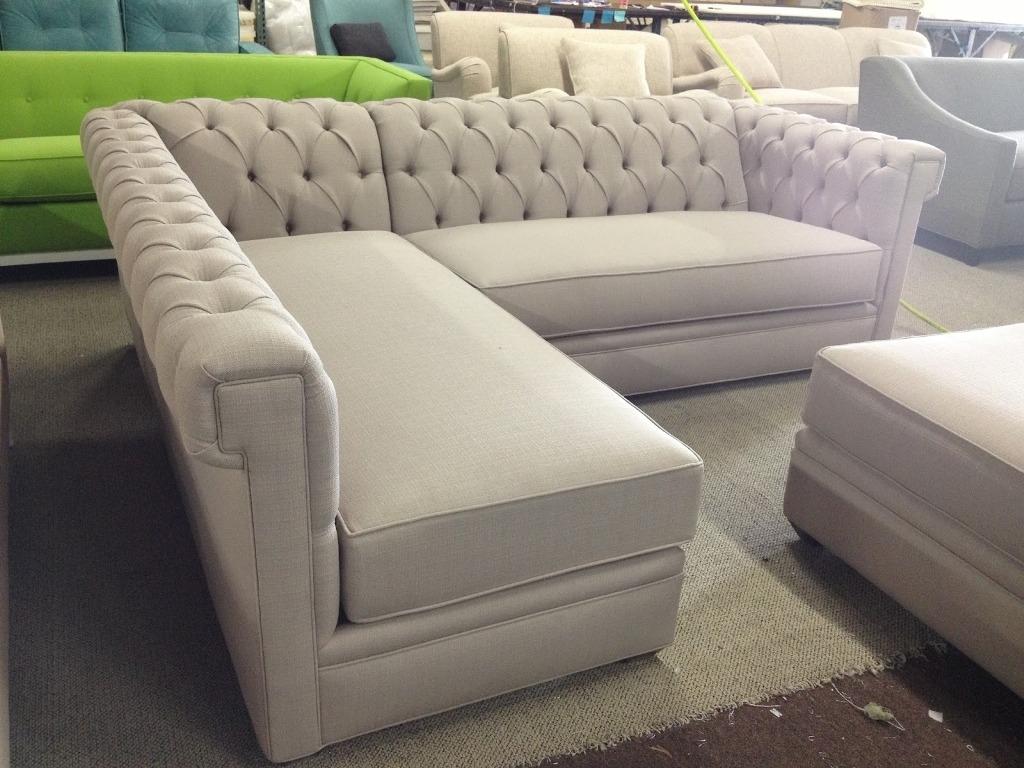 Sofa : Mesmerizing Tufted Sofa Sectional Sofas Tufted Sofa Sectional With Regard To Tufted Sectional Sofas (View 5 of 10)