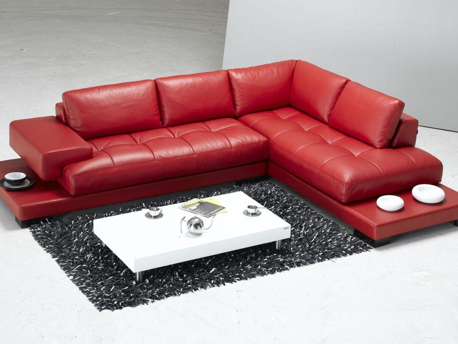 Sofa Red Leather Sectional Pink With Couches Faux Furniture Sale In Red Faux Leather Sectionals (Image 9 of 10)