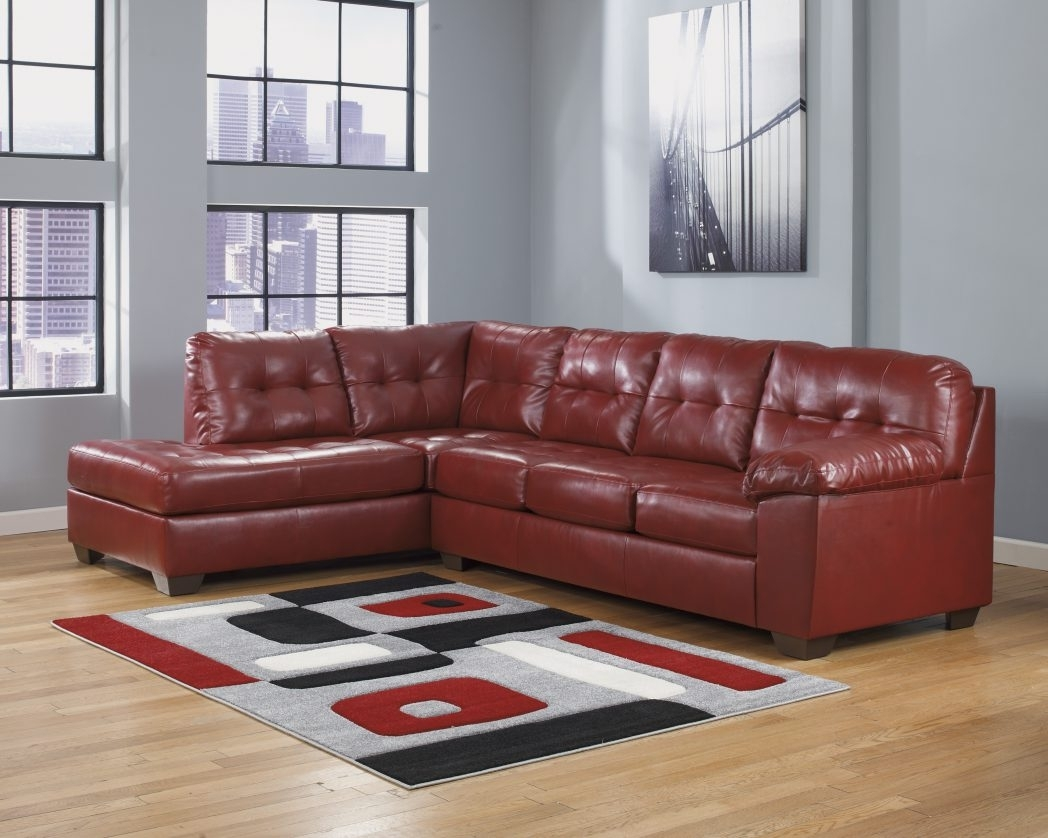 Sofa Red Leather Sectional With Ottoman Recliner Sofas Value City With Regard To Red Leather Sectional Sofas With Ottoman (Image 10 of 10)