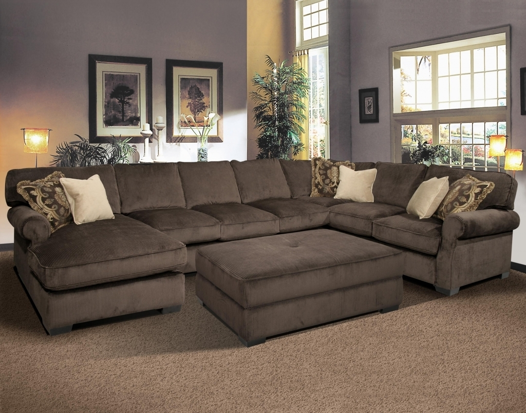 Sofa : Sofaal With Chaise Lounge Stupendous Photo Concept Double Inside Wide Sectional Sofas (Image 8 of 10)