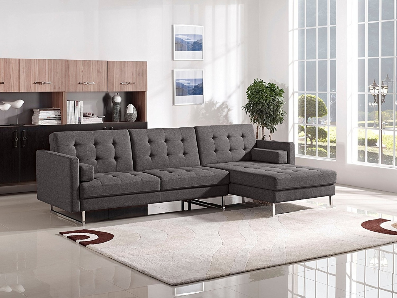 Sofa : Tufted Sectional Sofa Queen Sleeper Sofa' Loveseat Sofa Bed Throughout Tufted Sectional Sofas (Image 8 of 10)