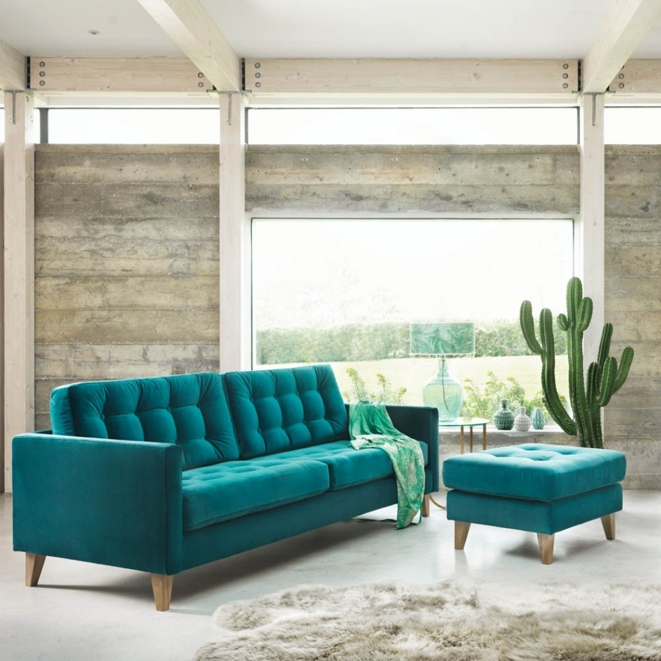 Sofa : Turquoise Sofa Uk Teal Leather Couch Togo Sofa Dark Blue With Turquoise Sofas (Image 6 of 10)
