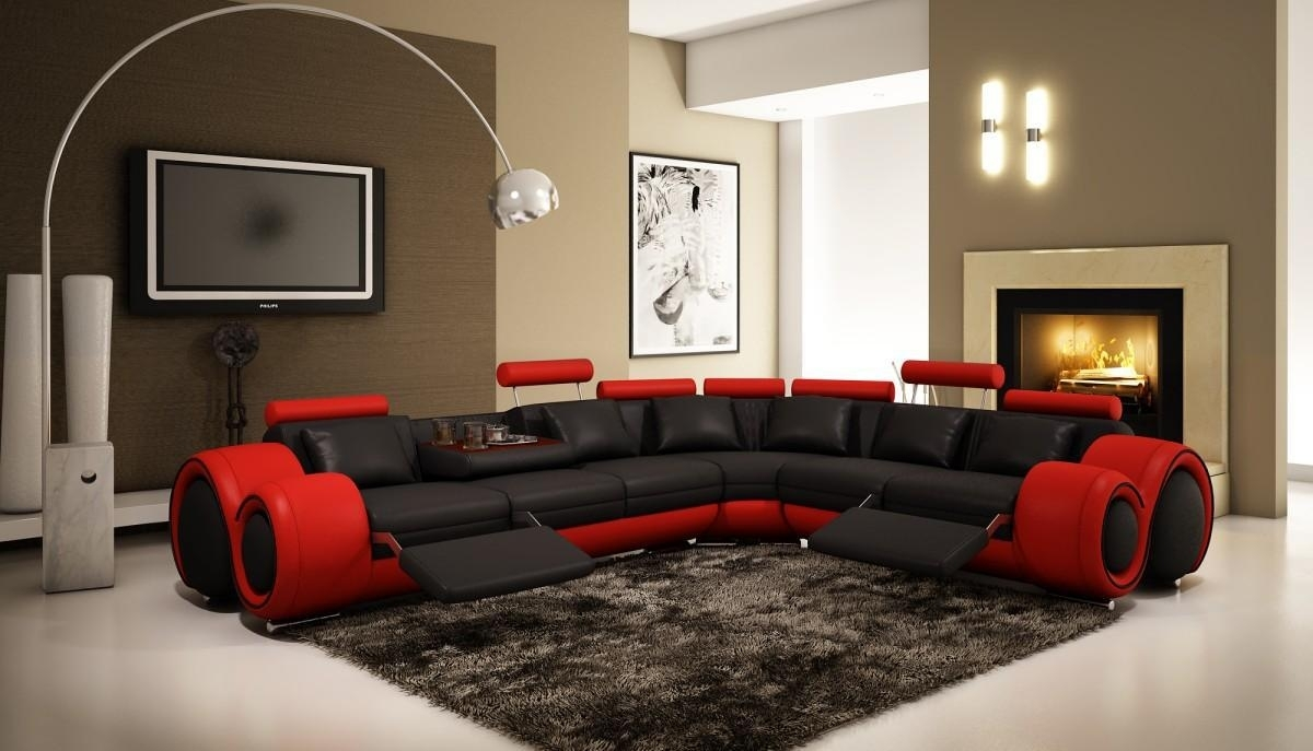Sofas: Brown Sectional Couch | Sectional Couch Sale | Red Sectional Sofa With Regard To Red Black Sectional Sofas (Image 9 of 10)
