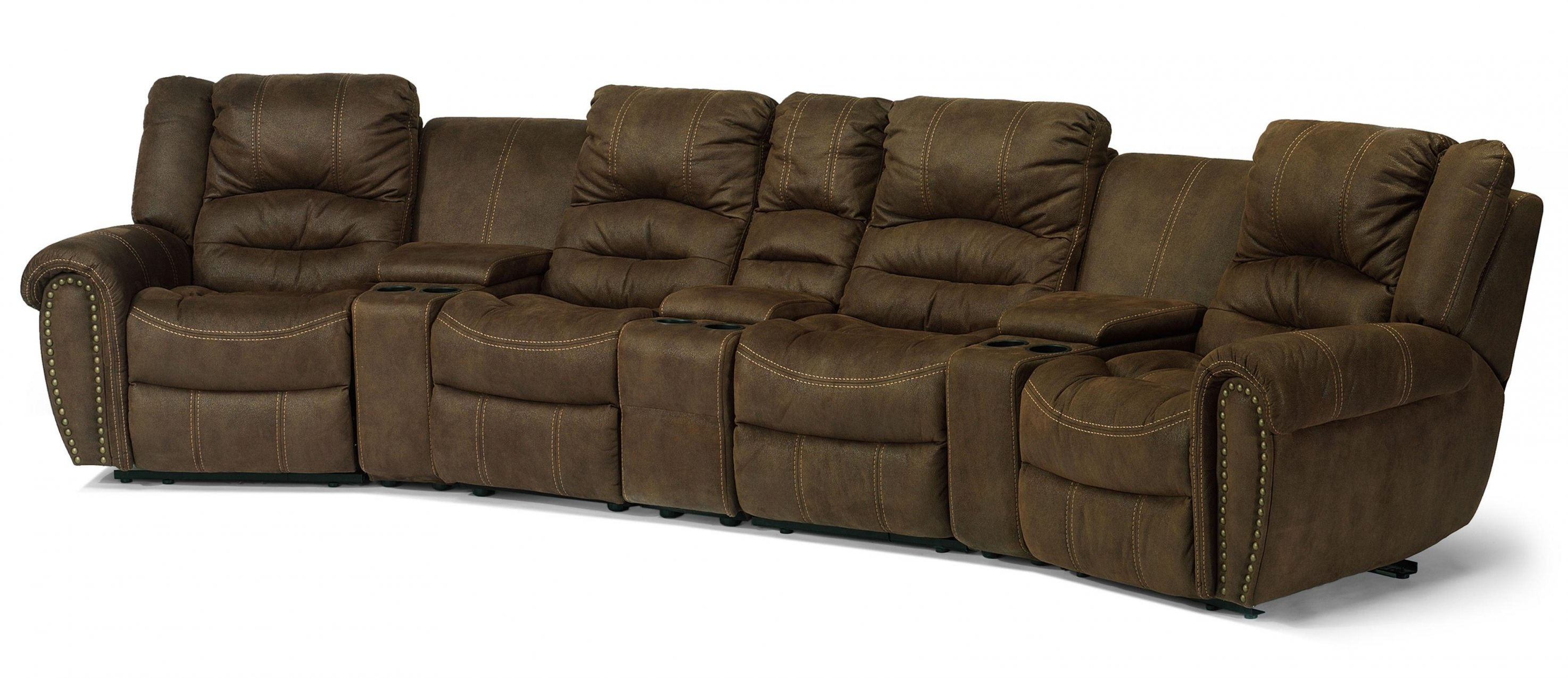 Sofas: Chic Flexsteel Sectional For Living Room Design — Esiobev Intended For Jordans Sectional Sofas (View 6 of 10)