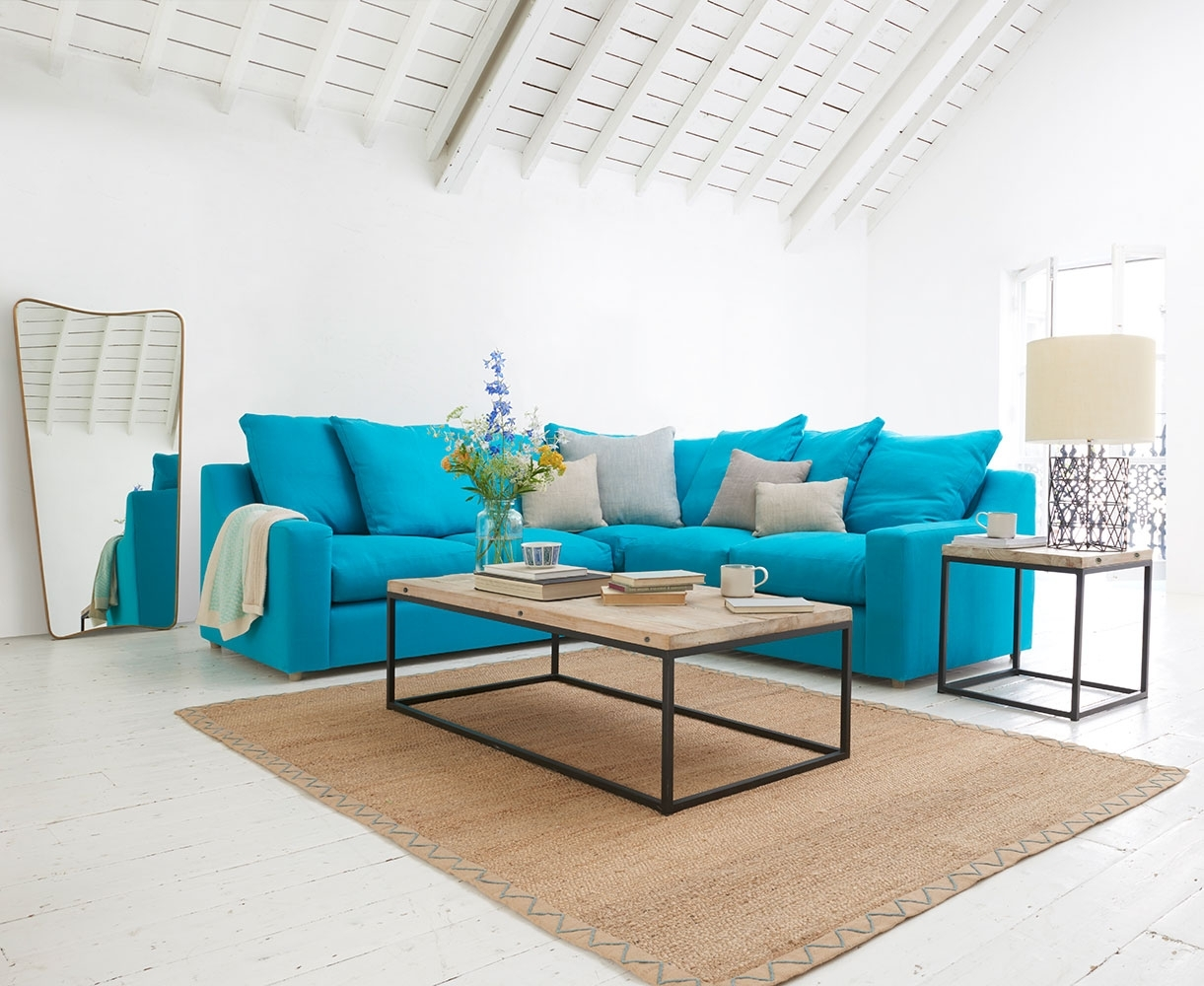 Sofas Made In Blighty | Cloud Corner | Loaf With Regard To Turquoise Sofas (View 4 of 10)