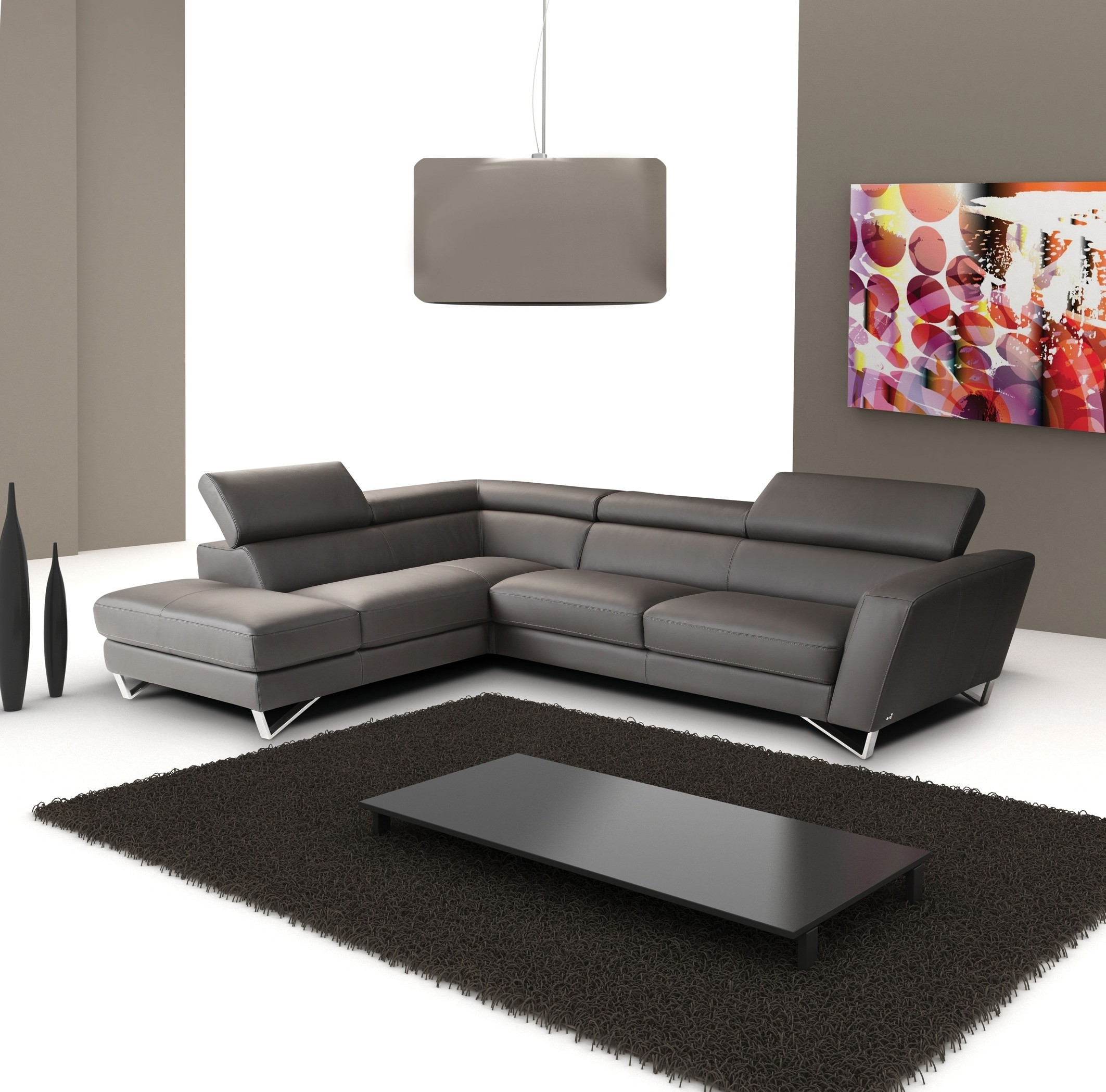 Sparta Italian Leather Modern Sectional Sofa Within Modern Sectional Sofas (View 4 of 10)