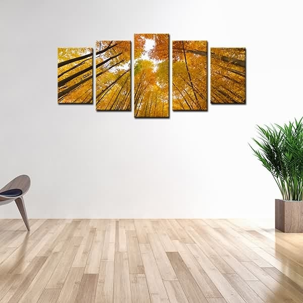Special Price For Photo On Canvas Print Yellow Tree Wall Art Decor For Malaysia Canvas Wall Art (View 12 of 15)