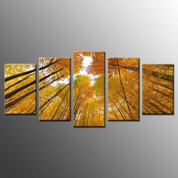 Special Price For Photo On Canvas Print Yellow Tree Wall Art Decor In Malaysia Canvas Wall Art (View 2 of 15)