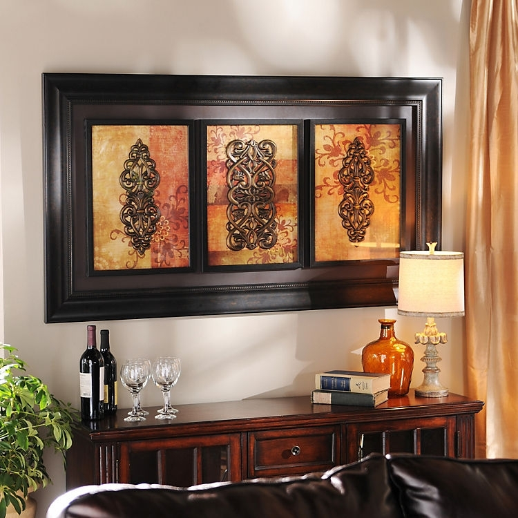 Spiced Up Trio Shadowbox | Kirklands | Home Decor And Diy With Regard To Kirkland Abstract Wall Art (Image 9 of 15)