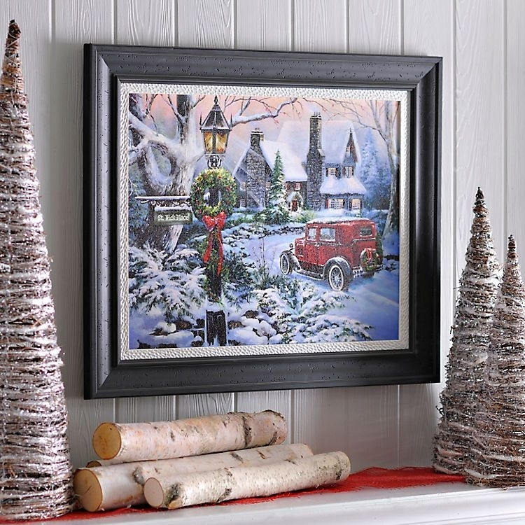 Spirit Of Christmas Framed Art Print | Kirklands | I'll Be Home Within Christmas Framed Art Prints (Image 14 of 15)
