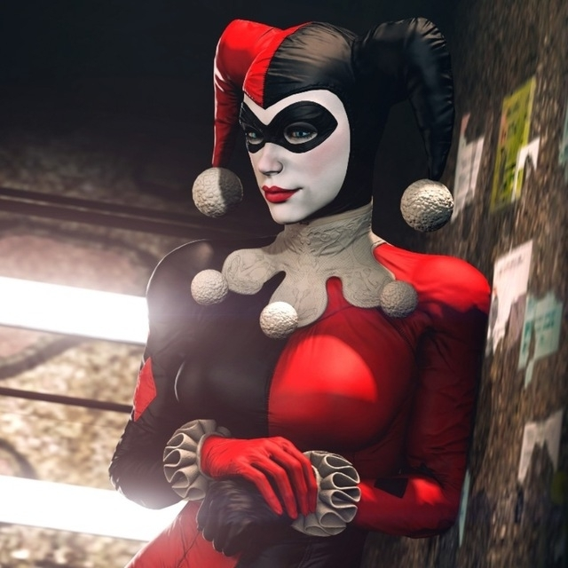 Square Canvas Fabric Poster Classic Villain Batman Girl Harley With Regard To Fabric Square Wall Art (View 4 of 15)